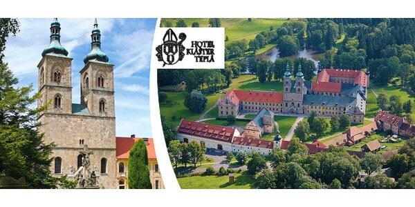 3-4denní dovolená pro dva v Hotelu klášter Teplá