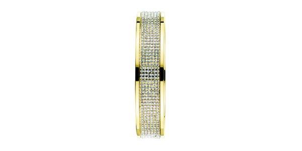 Dámský zlatě tónovaný náramek se Swarovski krystaly Dyrberg Kern