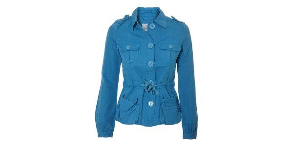 Modrý dámský kabátek Naf Naf