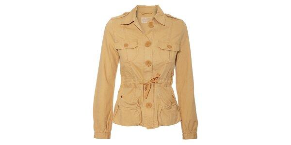 Béžový dámský kabátek Naf Naf