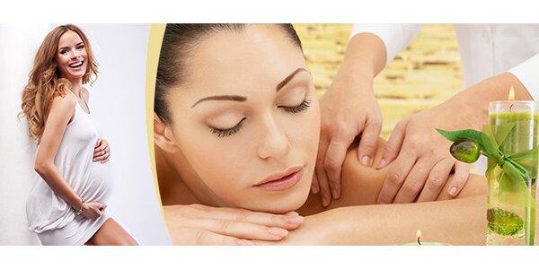 Celotělová relaxační těhotenská masáž