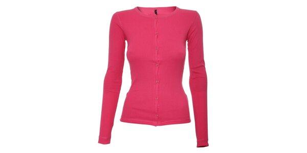 Růžové dámské letní tričko Naf Naf