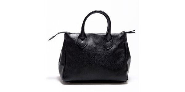 Dámská černá kožená kabelka Carla Ferreri