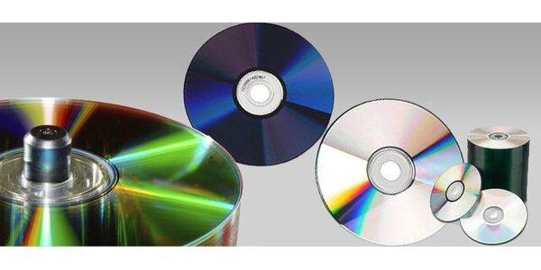 375 Kč za balení prázdných DVD+R - 125 ks, kapacita 4,7GB!