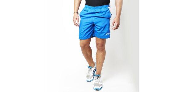 Pánské modré běžecké kraťasy Asics
