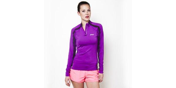 Dámské fialové tričko se zipem Asics