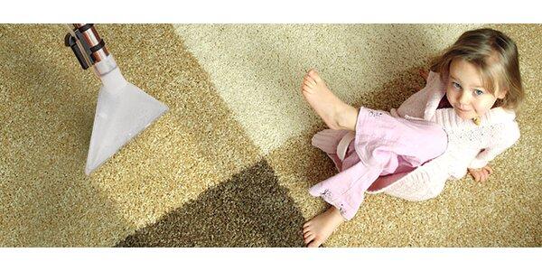 Přístrojové čištění koberců nebo čalouněného nábytku