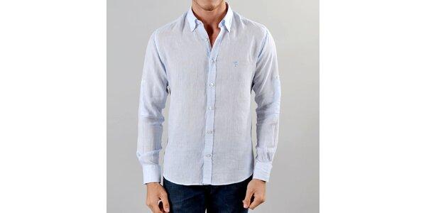Pánská lněná světle modrá košile Marcel Massimo