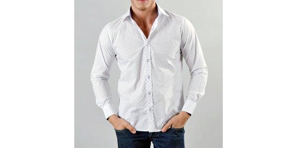 Pánská bílá košile s puntíčky Marcel Massimo