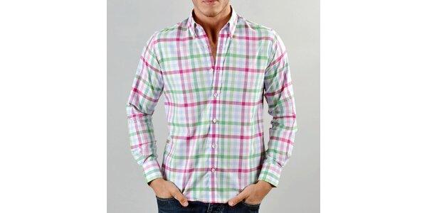 Pánská barevná károvaná košile Marcel Massimo