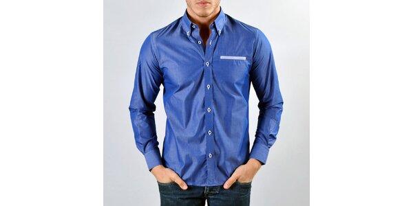 Pánská tmavě modrá košile Marcel Massimo