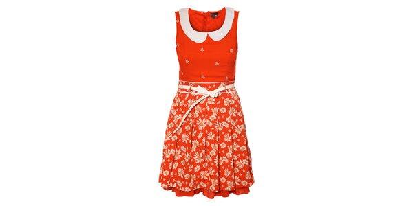 Dámské červené kopretinové šaty Yumi