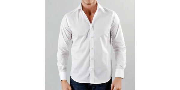 Pánská sněhově bílá košile Marcel Massimo