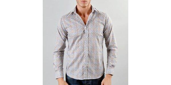 Pánská šedo-hnědá košile Marcel Massimo