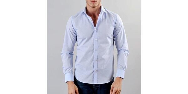 Pánská světle modrá košile se vzorkem Marcel Massimo