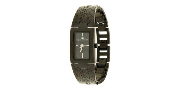 Dámské černé analogové náramkové hodinky Tom Tailor