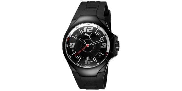 Pánské černé analogové hodinky Puma