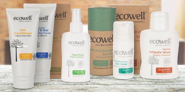 Balíčky bio kosmetiky Ecowell: krémy i šampony