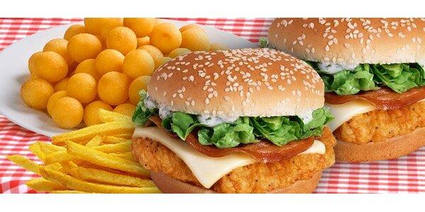 69 Kč za DVA hamburgery Americana a DVOJE krokety s kečupem nebo tatarkou.