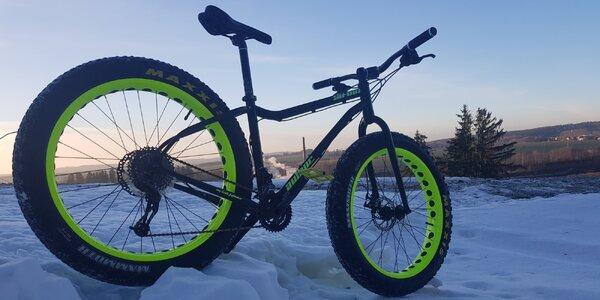 Zapůjčení terénního kola, které zvládne i sníh