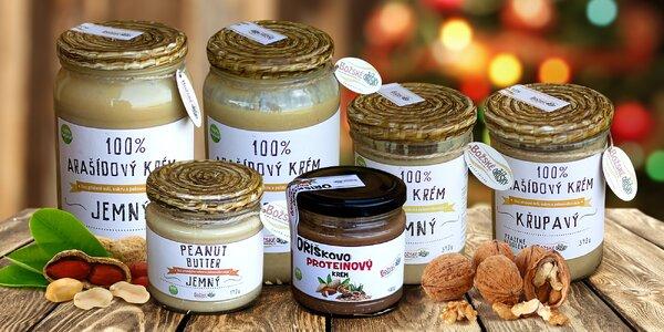 Lahodné krémy z arašídů, oříšků, mandlí i kešu