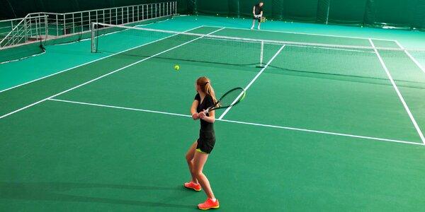Tenisový sparing s bývalým profesionálním hráčem
