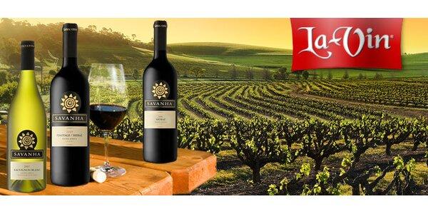 299 Kč za TŘI skvělá jihoafrická vína Savanha dle výběru