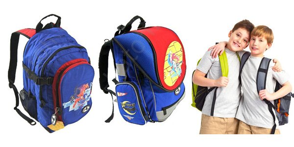 Praktický školní batoh - 2 druhy