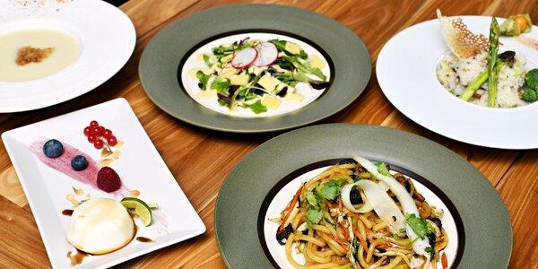 Degustační menu pro dva ve veganské restauraci