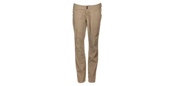 Dámské světle béžové plátěné kalhoty Timeout s puky