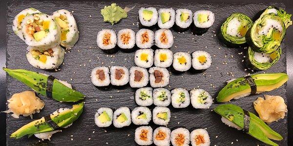Organické sushi s rybami i vege: 16–56 ks