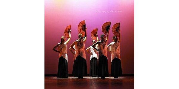 1490 Kč za ranní kurz tance Flamenka po dobu 2,5 měsíce v hodnotě 2500 Kč