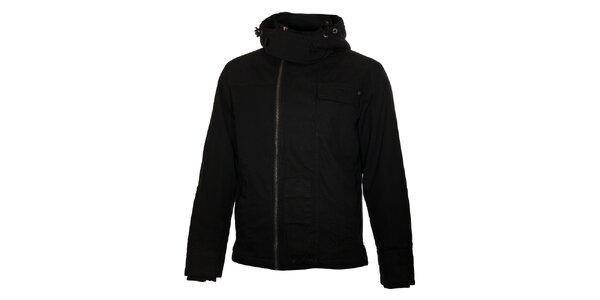 Pánská černá bunda Timeout s kapucí