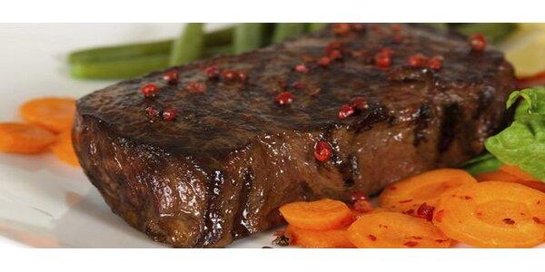 199 Kč za DVA čtvrtkilové steaky z hovězí plece a přílohou dle výběru!