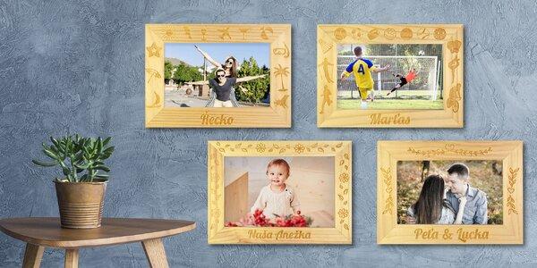 Dřevěné fotorámečky s vlastním nápisem