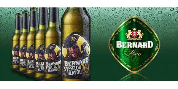359 Kč za 24 výročních piv 20° BERNARD s veselou hlavou!