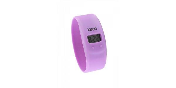 Purpurové silikonové hodinky Breo Skin