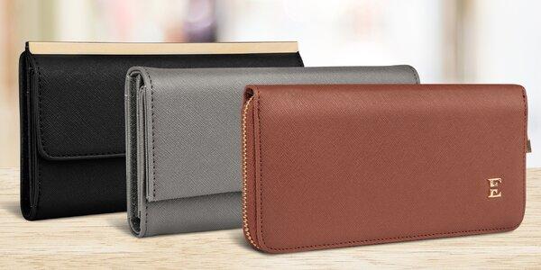 Elegantní dámské peněženky ve 3 barvách