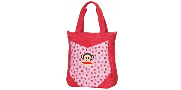 Dámská růžová taška přes rameno Paul Frank s veselým potiskem