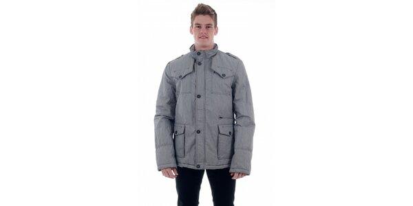 Pánský světle šedý kabát Freesoul