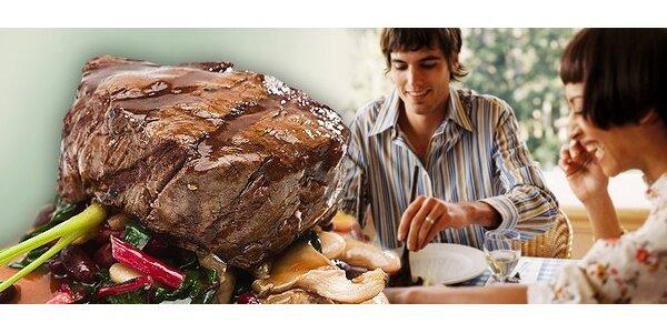 159 Kč za pravý steak z jihoamerického býka a přílohu dle vlastního výběru!
