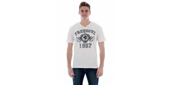 Pánské bílé tričko Freesoul s potiskem