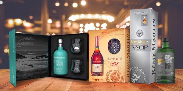 Vybrané whisky a koňaky: dárková balení i kolekce