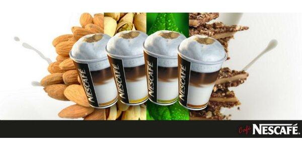 124 Kč za ČTYŘI caffè latte nebo horké punče s příchutí.