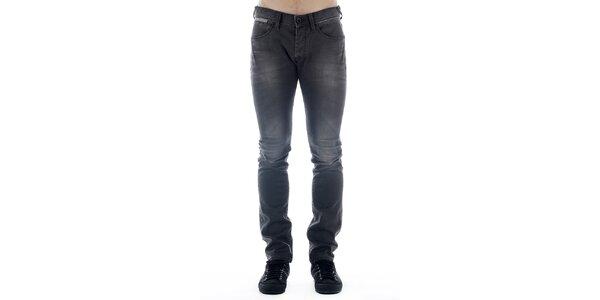Pánské tmavě šedé skinny džíny Freesoul