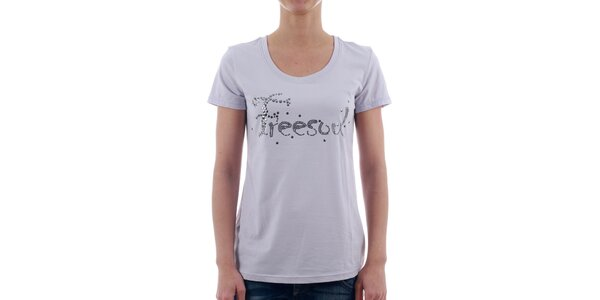 Dámské světle fialové tričko Freesoul se stříbrnými kamínky