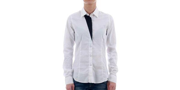 Dámská bílá košile Freesoul s černými detaily