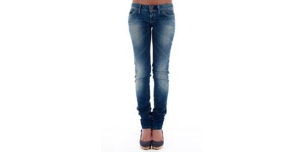 Dámské modré skinny džíny Freesoul se zipy
