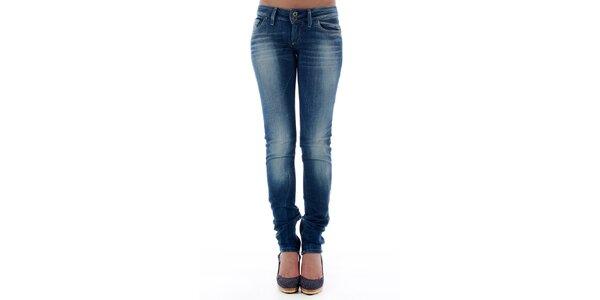 Dámské tmavě modré skinny džíny Freesoul se zipy