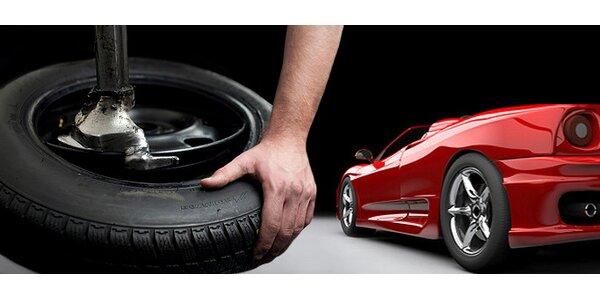 399 Kč za kompletní přezutí pneumatik včetně vyvážení a olůvek!